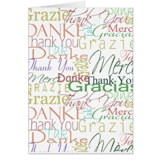 Tarjeta Gracias los regalos