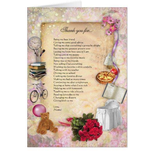 Tarjeta Gracias mamá (el personalizable)