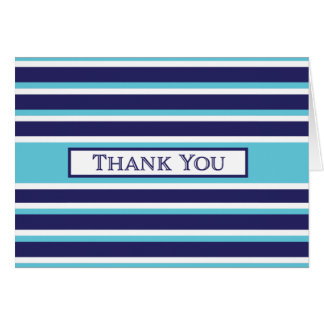 Tarjeta Gracias - marina de guerra, turquesa, raya blanca