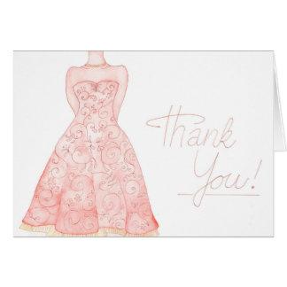 Tarjeta Gracias nota del boda del watercolour