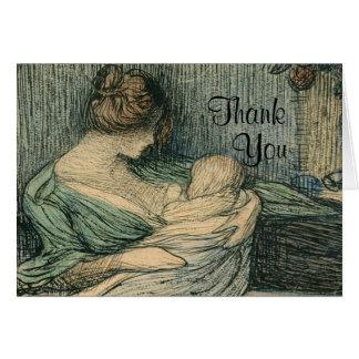 Tarjeta Gracias observa la madre y al niño por Rozentals