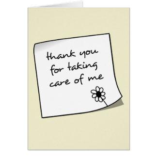 Tarjeta Gracias observar a la enfermera Notecard