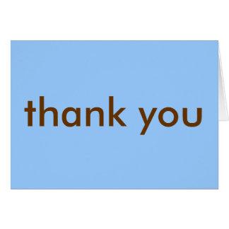 Tarjeta Gracias observar - el azul/a Brown