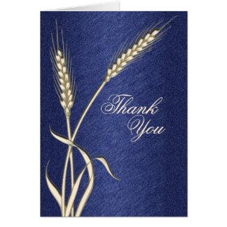 Tarjeta Gracias plantilla del boda