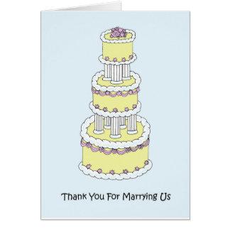 Tarjeta Gracias por casarnos