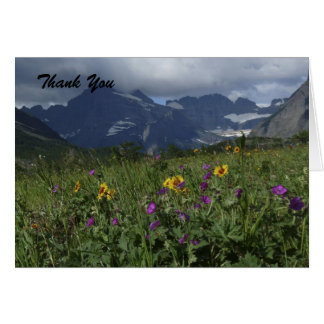 Tarjeta Gracias por condolencia, Wildflowers de la montaña