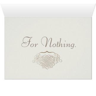 Tarjeta Gracias por nada