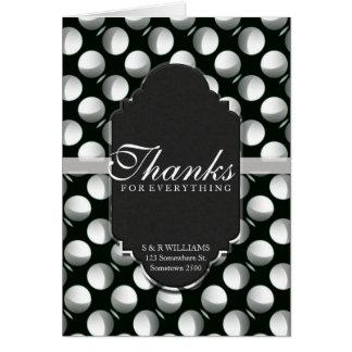 Tarjeta Gracias por negro moderno de la luna de