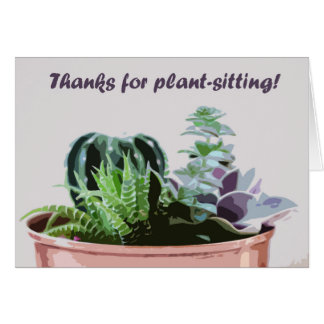 Tarjeta Gracias por planta-sentarse
