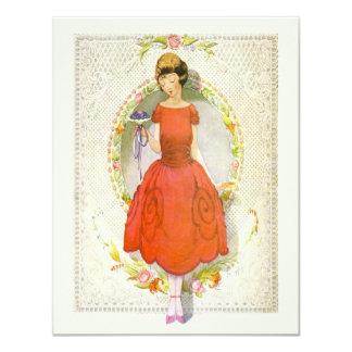 Tarjeta Gracias por ser mi vintage de la dama de honor