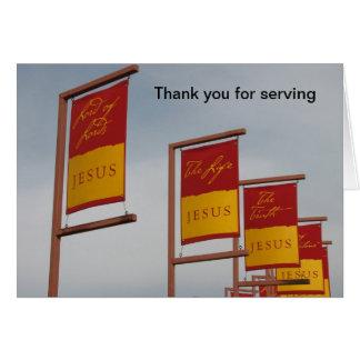 Tarjeta Gracias por servir