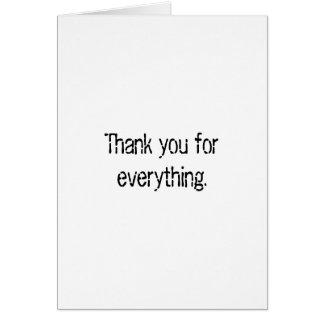 Tarjeta Gracias por todo