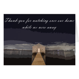Tarjeta Gracias por vigilar nuestro hogar