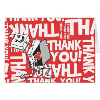 Tarjeta Gracias robot