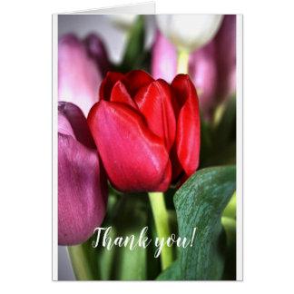 Tarjeta ¡Gracias! Tulipanes