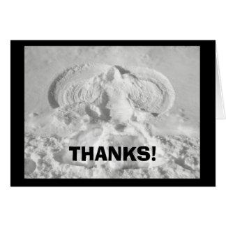 Tarjeta ¡Gracias! Usted es un ángel