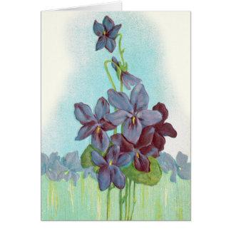 Tarjeta Gracias: Violetas dulces