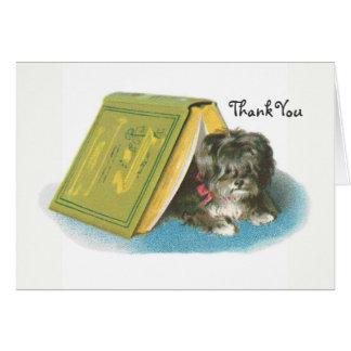 Tarjeta Gracias - Yorkshire Terrier - Yorkie - libro