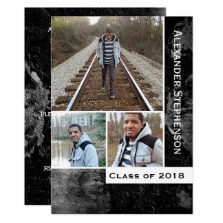Tarjeta Graduación 2018 de los individuos de los muchachos