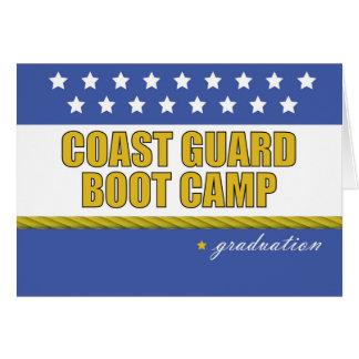 Tarjeta Graduación de Boot Camp del guardacostas