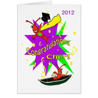 Tarjeta Graduación de Cher de la enhorabuena de los