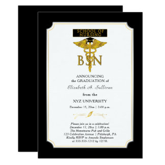 Tarjeta Graduación de la enfermera BSN de la escuela de