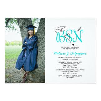 Tarjeta Graduación de la foto de la enfermera de BSN que