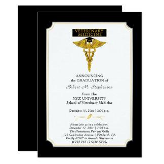 Tarjeta Graduación del veterinario de la veterinaría