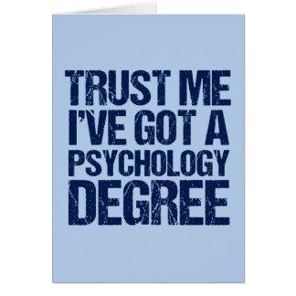 Tarjeta Graduación divertida de la psicología