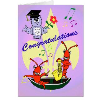 Tarjeta Graduación temática de los cangrejos de Cajun