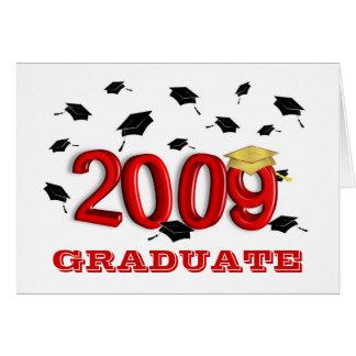 Tarjeta graduada de 2009 Announcment