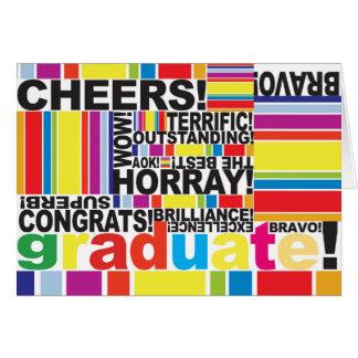 Tarjeta graduada del graduado de la enhorabuena de