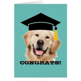 Tarjeta Graduado de Congrats del casquillo y de la borla
