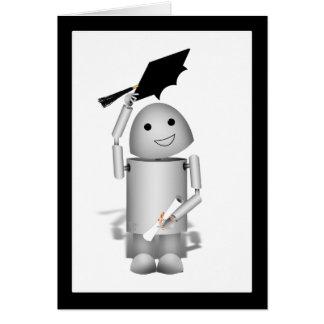 Tarjeta ¡Graduado de Lil Robox9 - casquillos apagado!