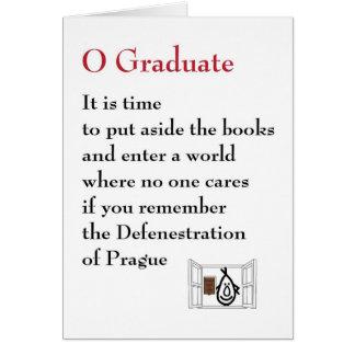 Tarjeta Graduado de O - un poema peculiar de la graduación