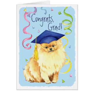 Tarjeta Graduado de Pomeranian