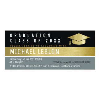 Tarjeta graduado moderno, elegante y elegante. fiesta del