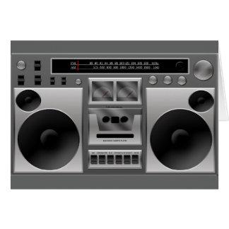 Tarjeta Gráfico de radio de Boombox