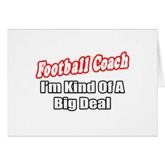 Tarjeta Gran cosa del entrenador de fútbol…