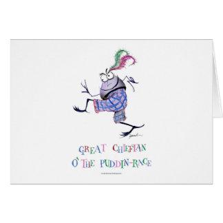 Tarjeta gran puddin-raza chieftan del o'the