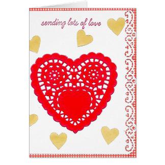 Tarjeta grande del el día de San Valentín del