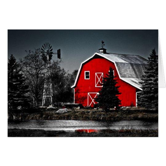 Tarjeta Granero rojo espectacular