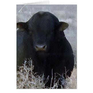Tarjeta Granja feliz linda Bull del rancho del día de