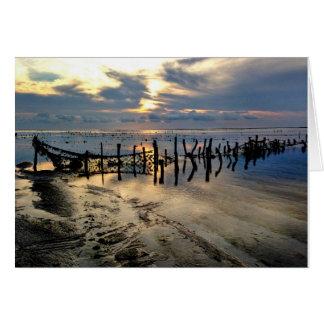 Tarjeta Granjas de la alga marina en Pulau de memoria