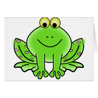 Tarjeta Green_Valentine_Frog_with_pink_hearts.png