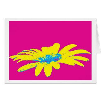 Tarjeta Greeting card daisy flowers pop especie