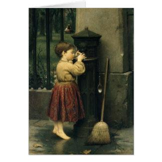 Tarjeta Greetingcard con la pintura del individuo de