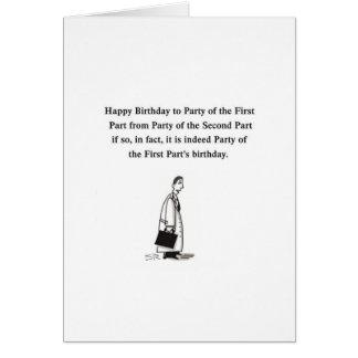 Tarjeta gretting del dibujo animado del cumpleaños
