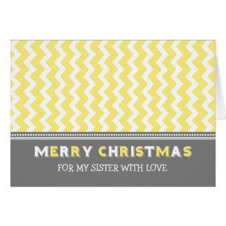 Tarjeta gris amarilla de las Felices Navidad de la