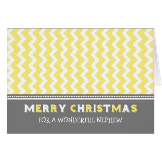 Tarjeta gris amarilla de las Felices Navidad del s